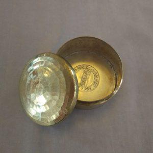 Handhammered Brass Jar with Lid