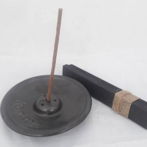 Ceramic Incense Holder with Incense in Box, natural or coffee spiced