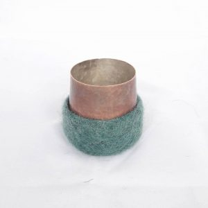 Espresso Cups, Copper with Silverlining and Feltcover
