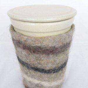 Ceramic Coffee Take Away Mug with Felt Cover
